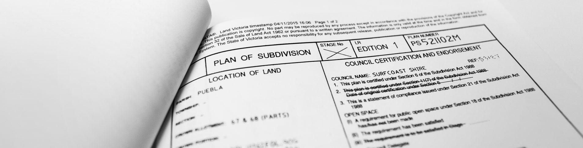 Subdivision Header Image | Geelong Conveyancing